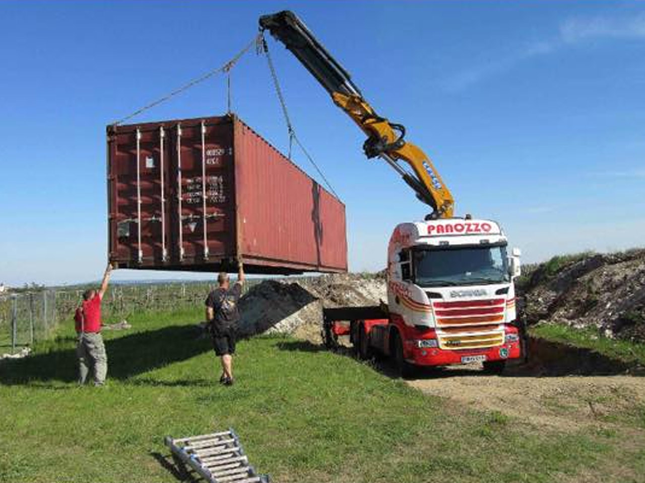 Containertransport Baden